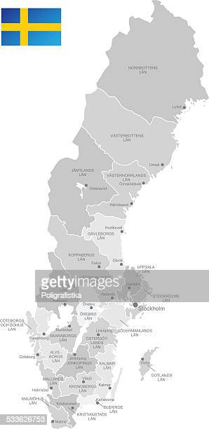 Detailed Vector Map of Sweden
