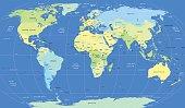 Detailed vector political World Map
