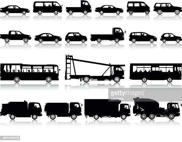 detailed vehicles - side view stock illustrations, clip art, cartoons, & icons