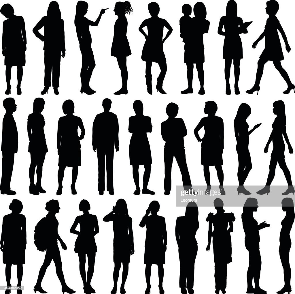Detailed Women Silhouettes