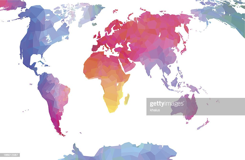Detailed World Map Vector Art Getty Images