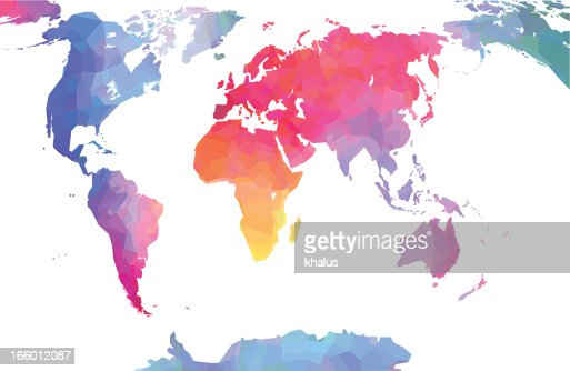 Detailed world map vector art getty images gumiabroncs Images