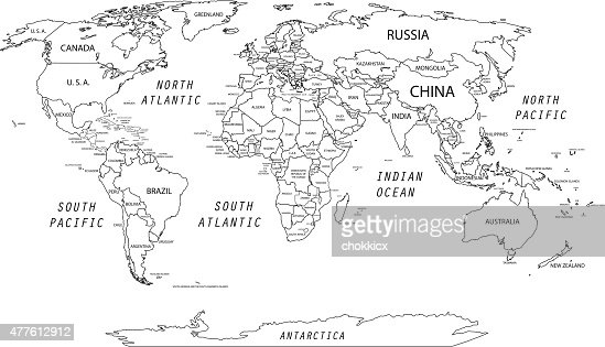 Detailed World Map Vector Art | Getty Images