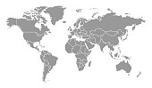 Detailed World Map with Countries