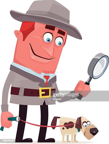 detective and dog