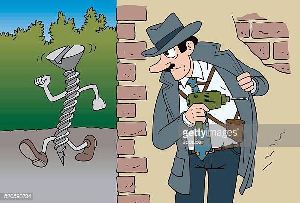 Detective Chasing Suspected Screw