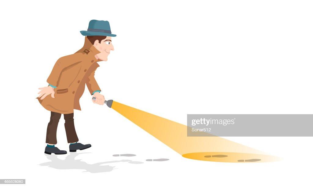 Detective holding a flashlight