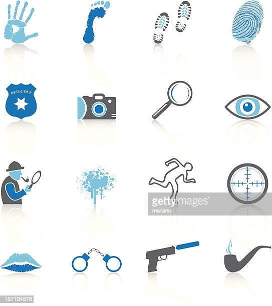 Detective Icons - Blue Series