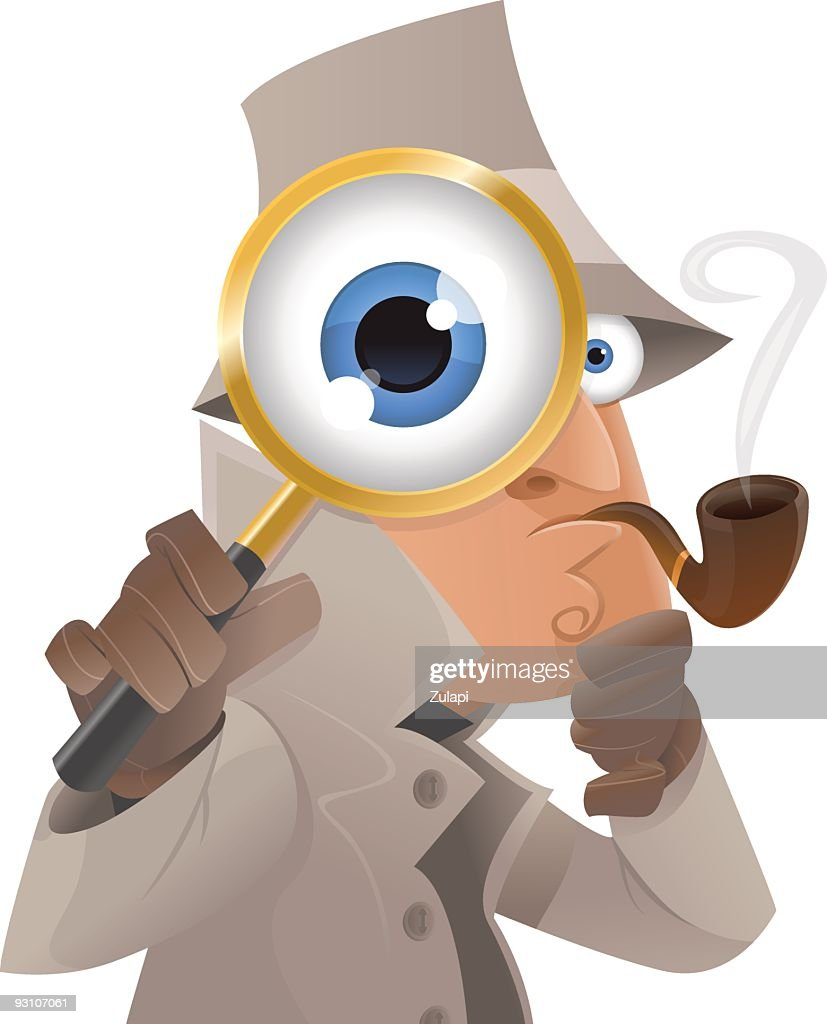 Detective illustration with glasses