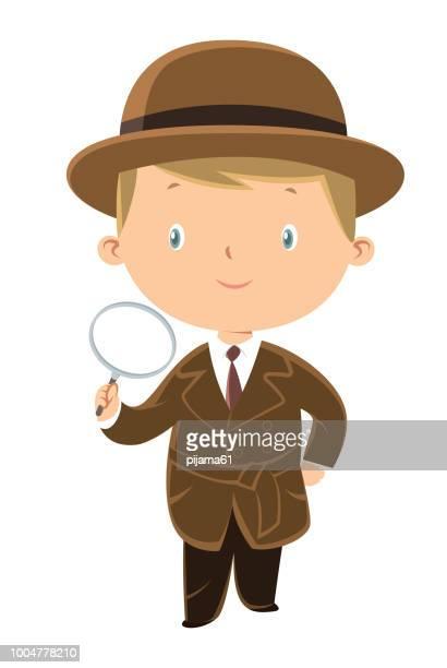 ilustraciones, imágenes clip art, dibujos animados e iconos de stock de detective - detective