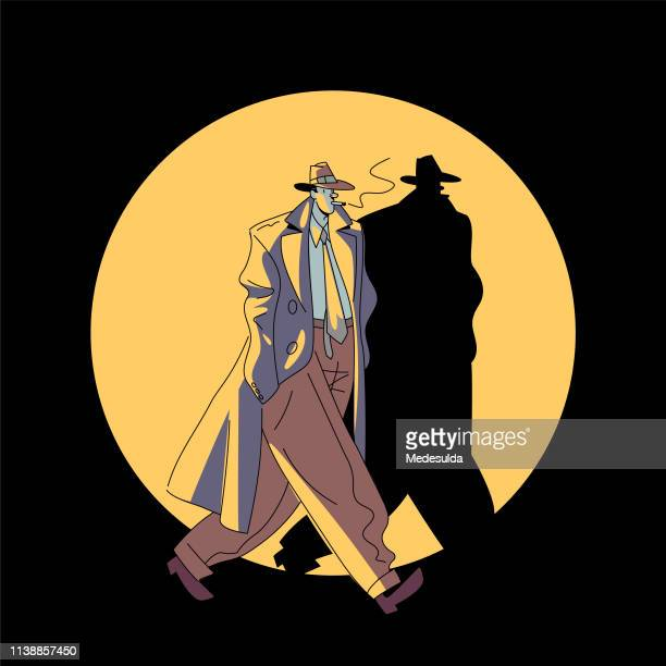 detective vector - detective stock illustrations