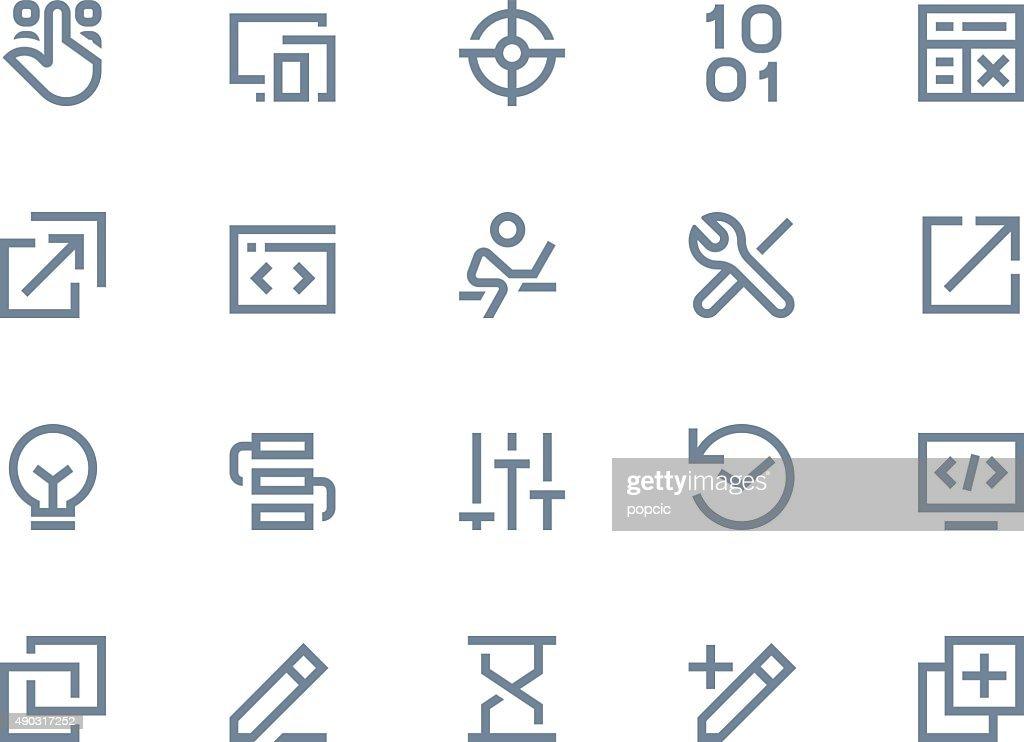 Developer icons. Line series