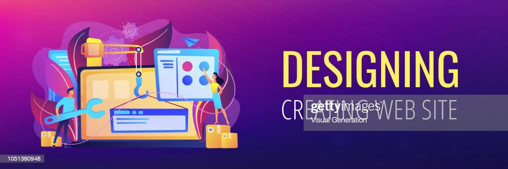 WEB development header or footer banner