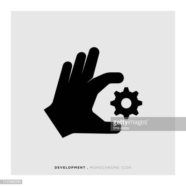 development monochrome icon - film script stock illustrations, clip art, cartoons, & icons