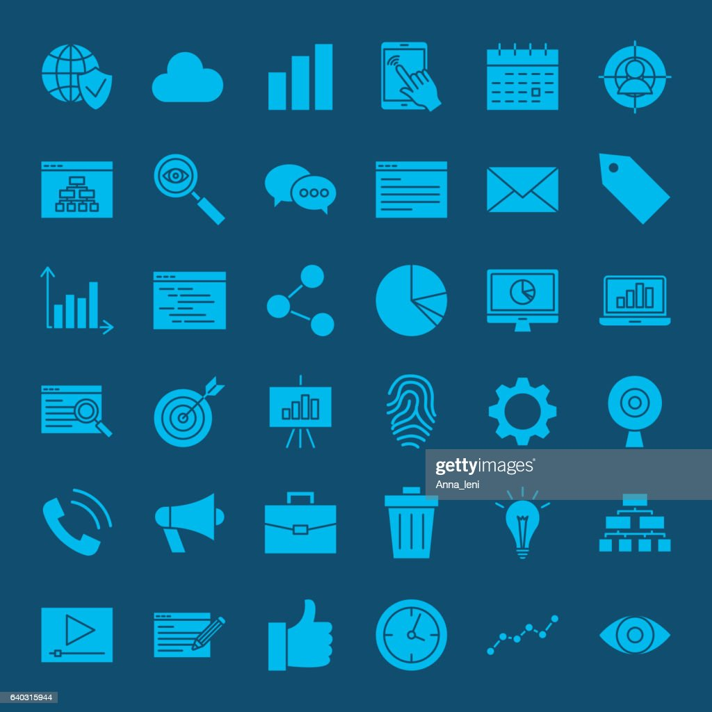 Development Web Glyphs Icons