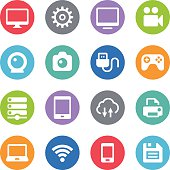 Device Icons - Circle Illustrations