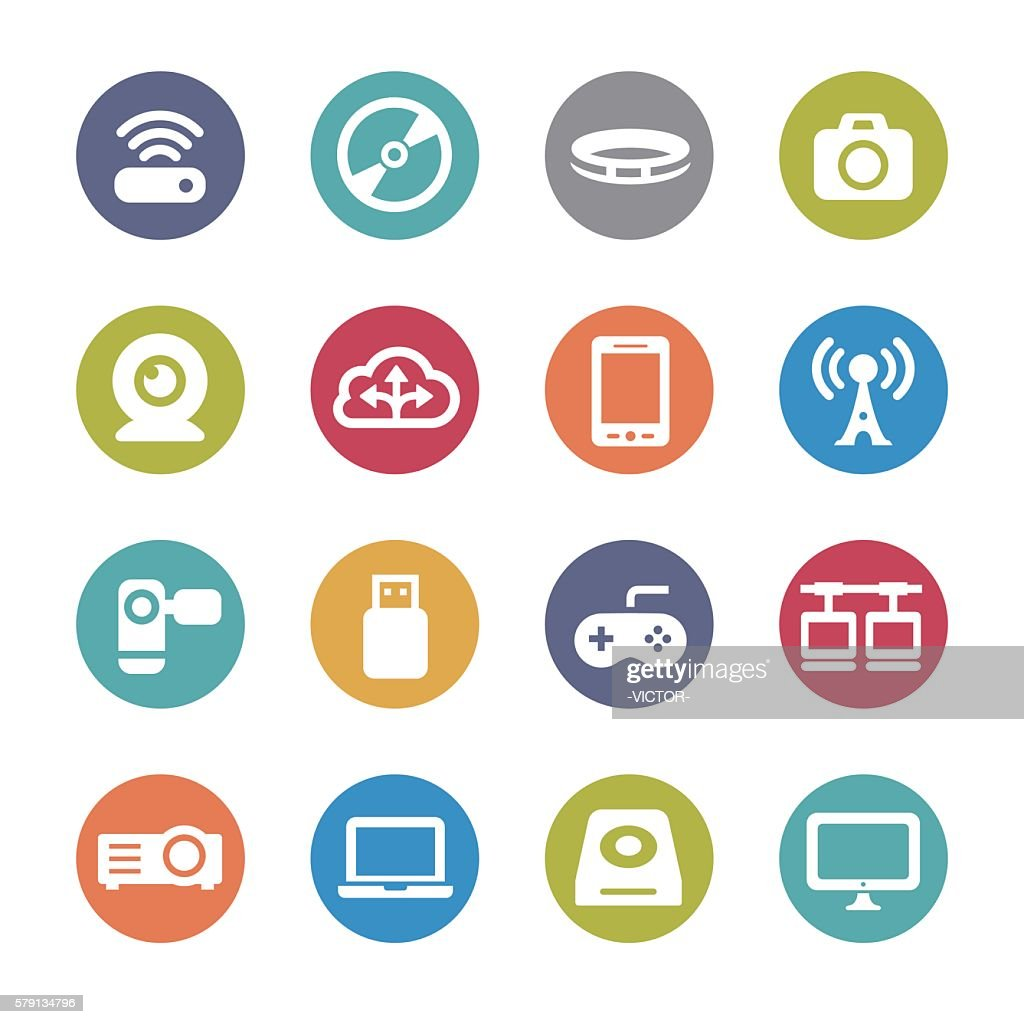 Device Icons - Circle Series