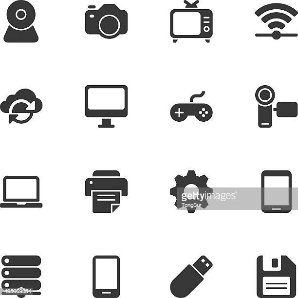 device icons - regular - usb cable stock illustrations, clip art, cartoons, & icons