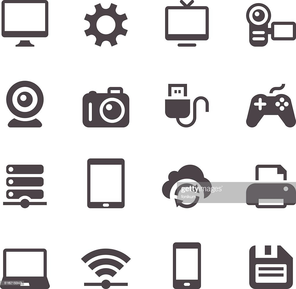 Device Icons : stock illustration