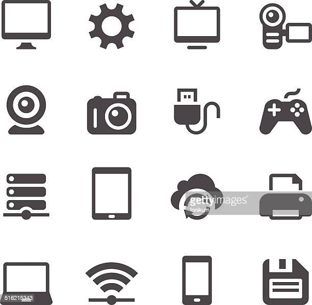device icons - video camera stock illustrations, clip art, cartoons, & icons