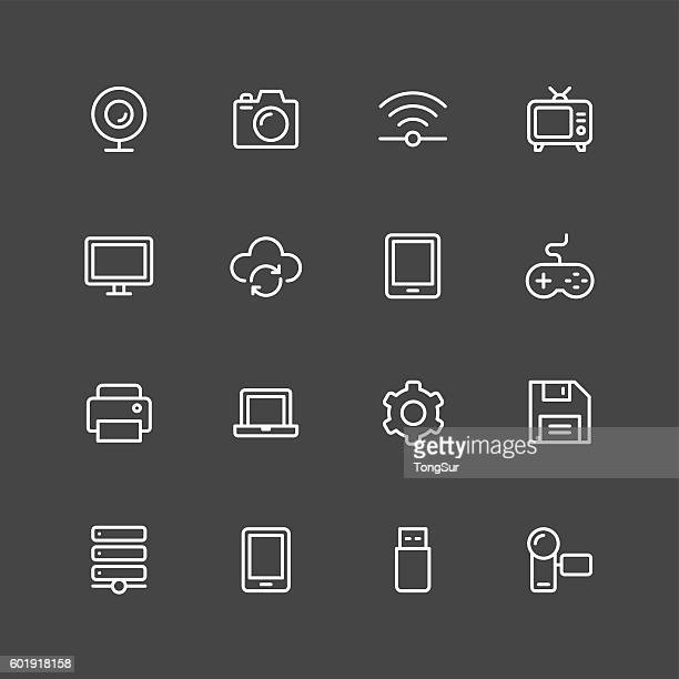 Device icons - White Series