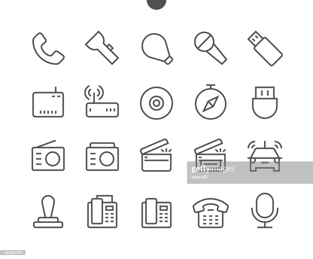 Devices UI Pixel Perfect Well-crafted Vector Thin Line Icons 48x48 Ready for 24x24 Grid for Web Graphics and Apps with Editable Stroke. Simple Minimal Pictogram