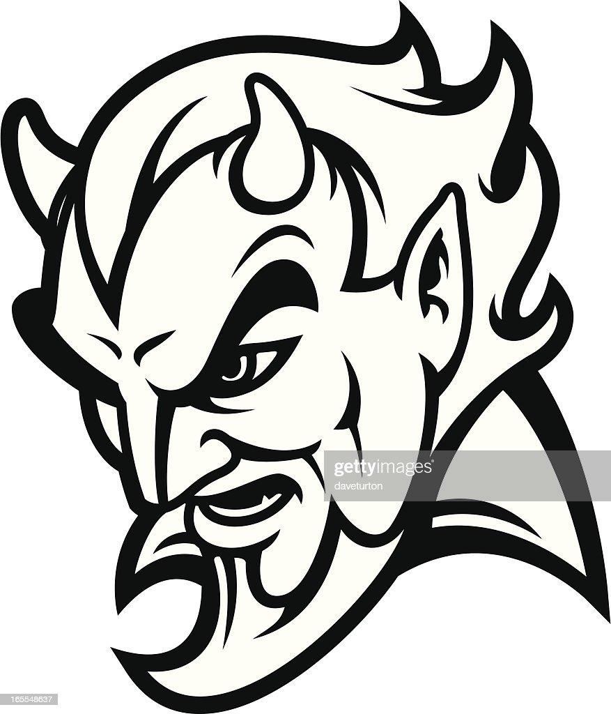Devil Head Bampw Vector Art | Getty Images