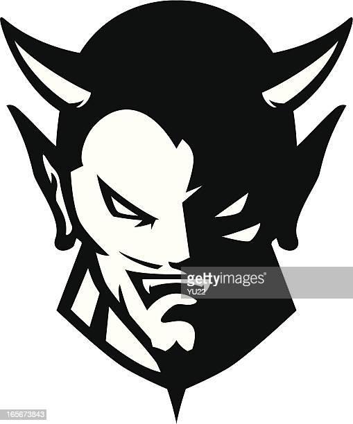 Devil Cabezal B & W mascot