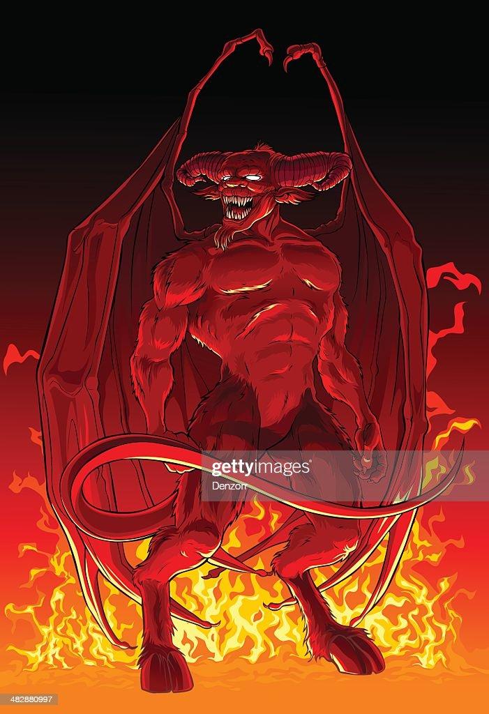 Devil in fire.