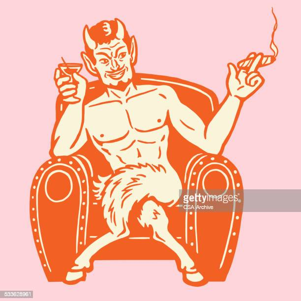 Devil Smoking and Drinking