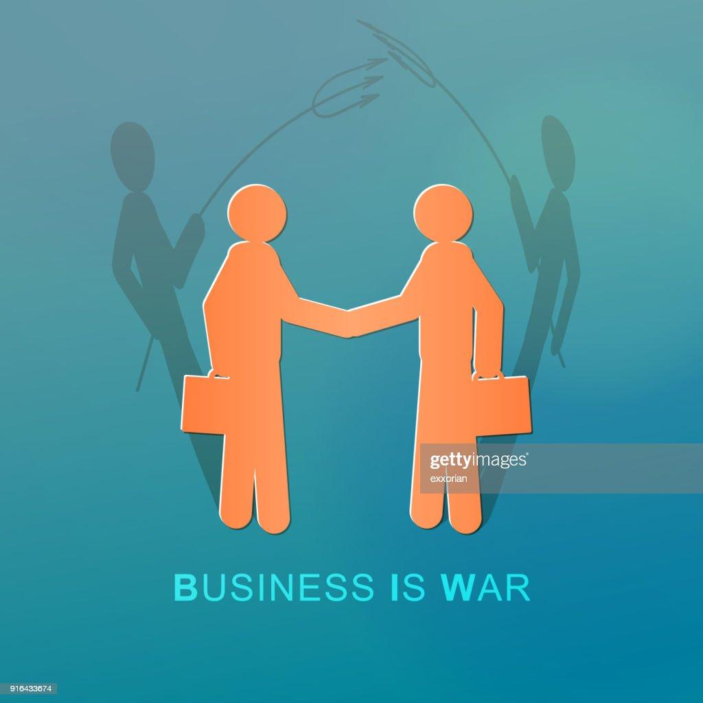 Devilish Business People Handshaking : stock illustration