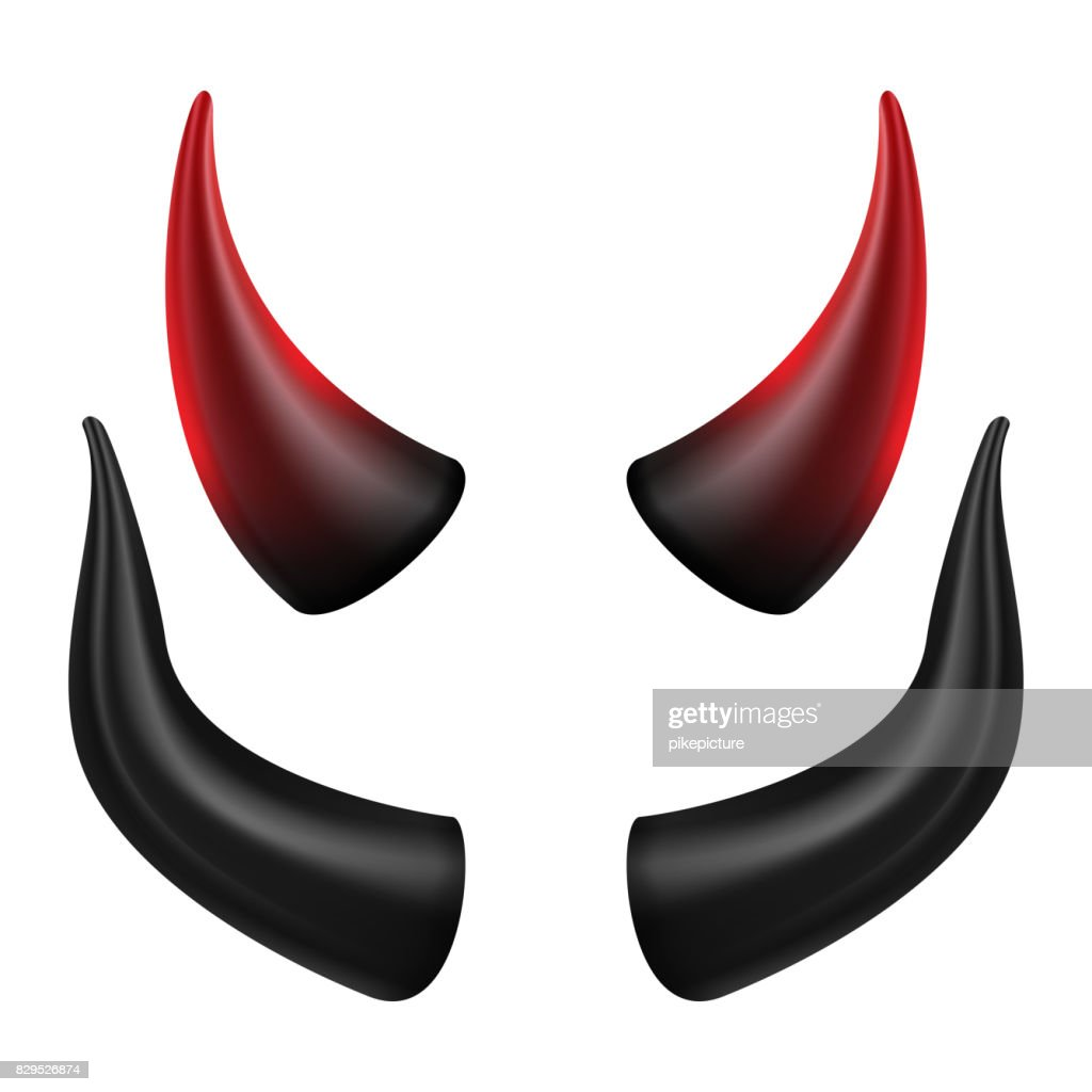 Devils Horns Vector. Good For Halloween Party. Satan Horns Symbol Isolated Illustration