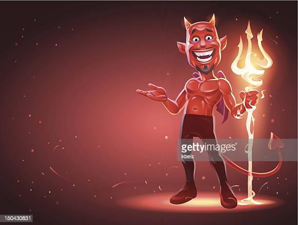devil's invitation - devil stock illustrations