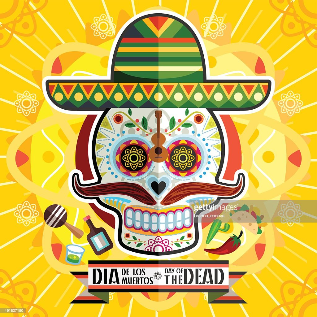 Dia De Los Muertos Day Of The Dead Skull
