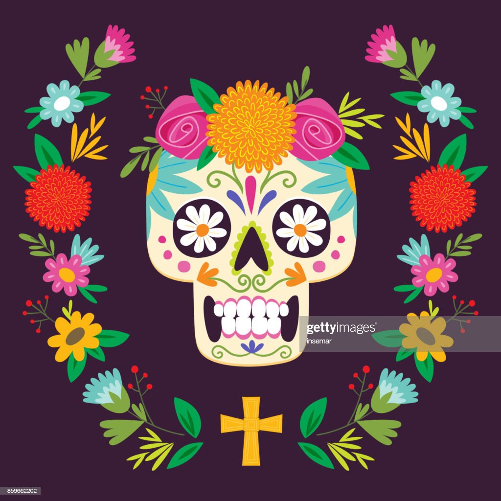 'Dia de los Muertos' (day of the dead) mexican skull.