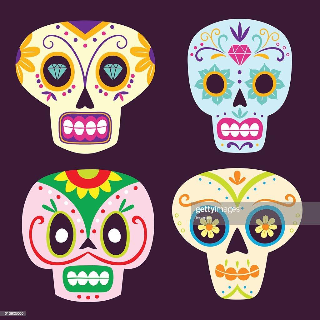 Dia de los muertos mexican skulls