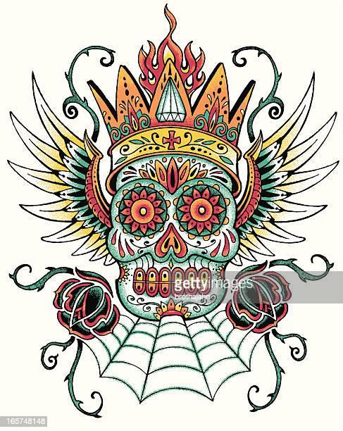 dia de los muertos tattoo design