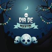 Dia de Muertos Day of the dead design