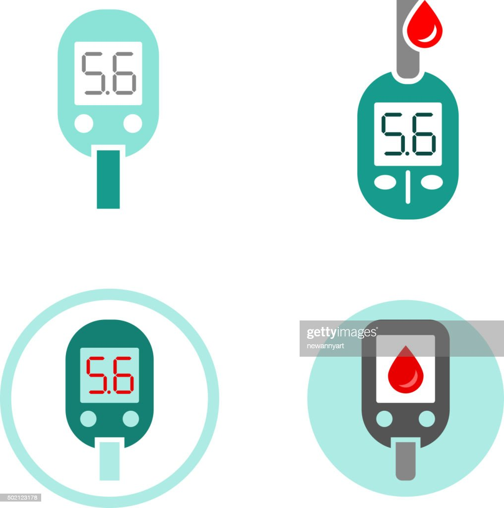 Diabetes Glucometer Icons