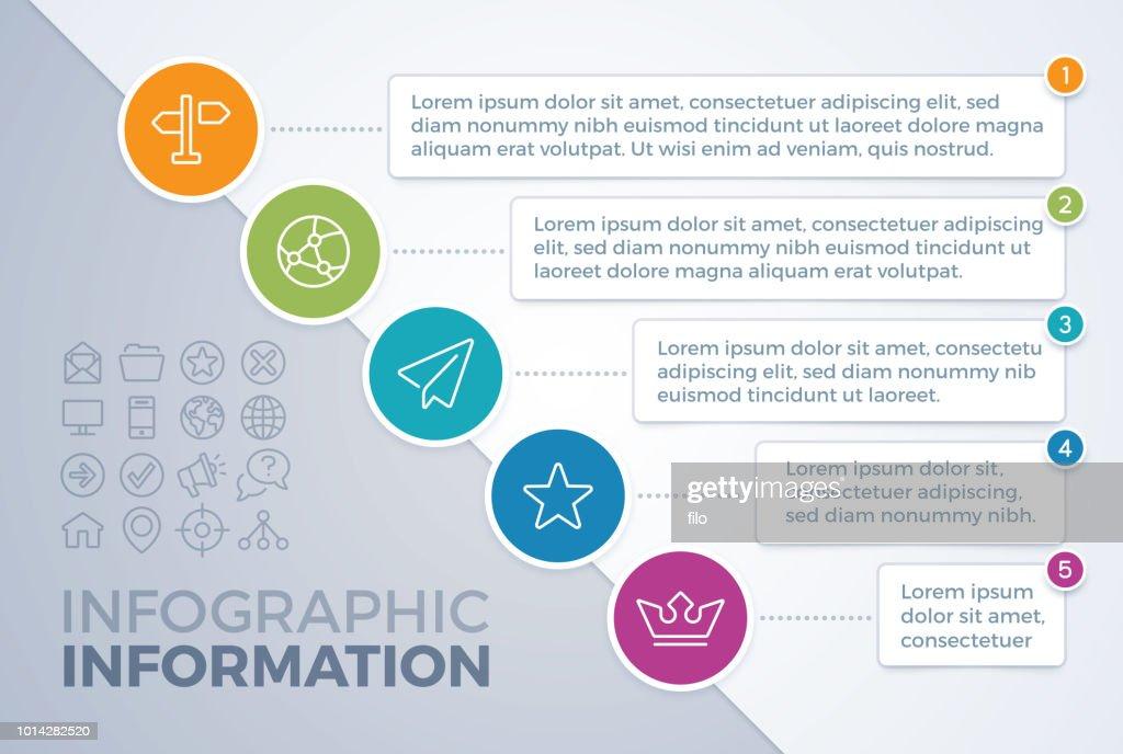 Diagonale fünf Element-Infografik : Stock-Illustration