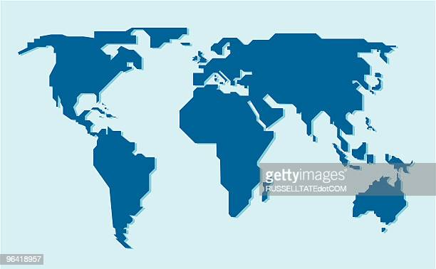 diagonal world map - simplicity stock illustrations, clip art, cartoons, & icons