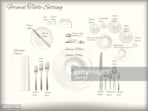 Diagram    Of A Formal Table    Setting    Vector HighRes Vector