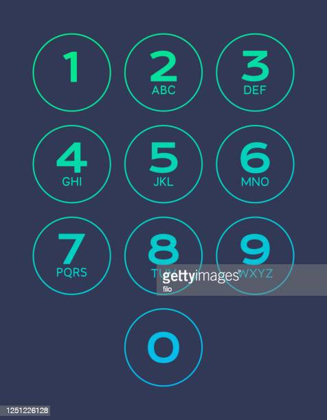 dial numbers interface - touchpad stock illustrations