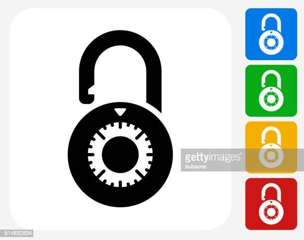 Dial Security Lock Icon Flat Graphic Design