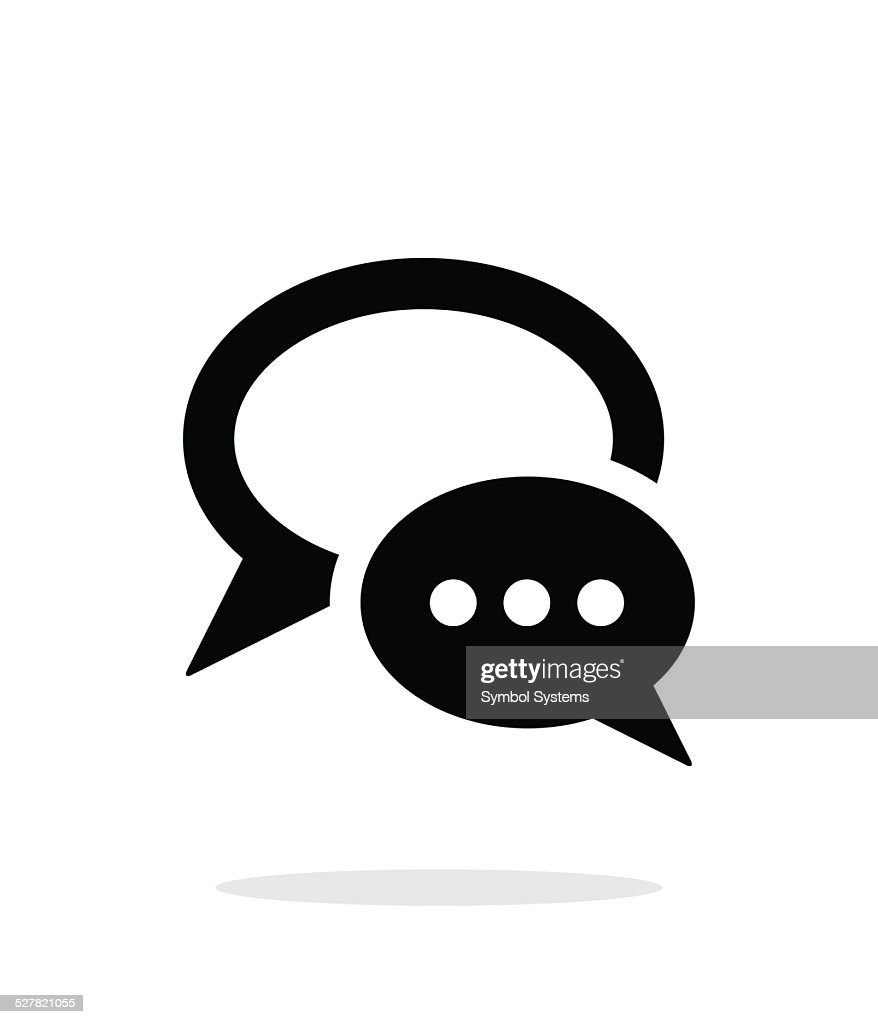 Dialogue bubble icon on white background.