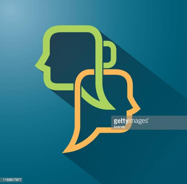 対話バブル - 年配のカップル点のイラスト素材/クリップアート素材/マンガ素材/アイコン素材