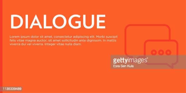dialogue flat web banner - answering machine stock illustrations, clip art, cartoons, & icons