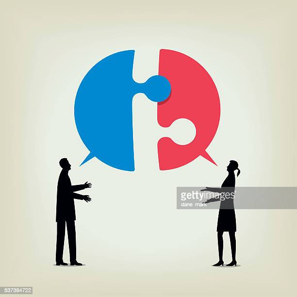 dialogue - politics concept stock illustrations