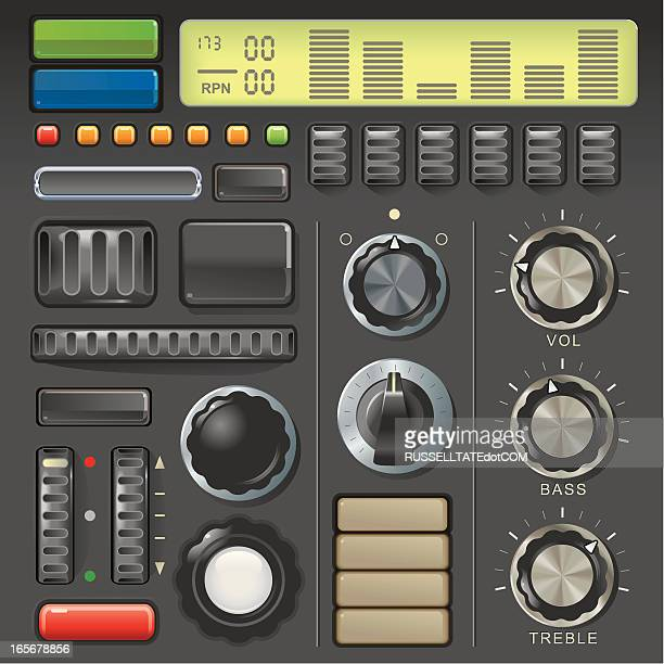 dials and buttons - volume knob stock illustrations, clip art, cartoons, & icons