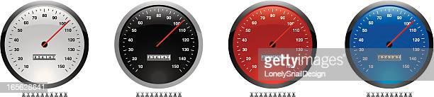 dials speed - odometer stock illustrations, clip art, cartoons, & icons